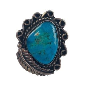 Vintage Sterling Silver Turquoise Ring 6.25